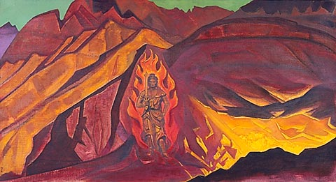 Guardian of the Entrance - Nicholas Roerich, 1927