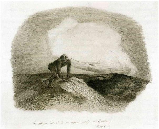 The Eternal Silence of These Infinite Spaces Frightens Me - Odilon Redon