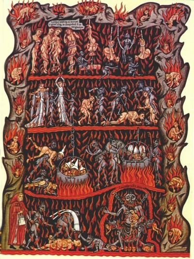 Hell - Herrad of Landsberg, circa 1170