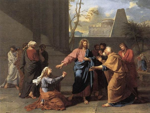 The Woman of Canaan at the Feet of Christ - Jean Germain Drouais, 1784