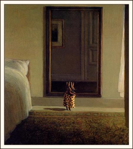 Rabbit in Front of the Mirror - Michael Sowa