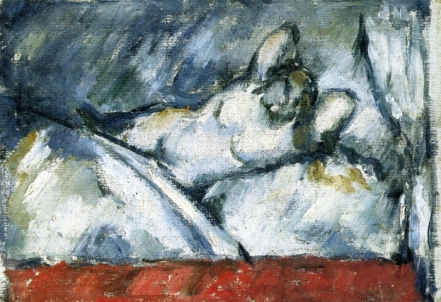 Reclining Nude - Paul Cezanne, 1887
