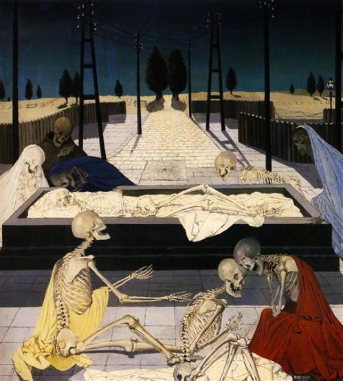 The Focus Tombs - Paul Delvaux, 1957