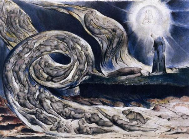 The Lovers Whirlwind - William Blake, 1827