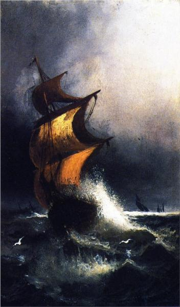 Ship in a Storm - Henry Ossawa Tanner, 1879