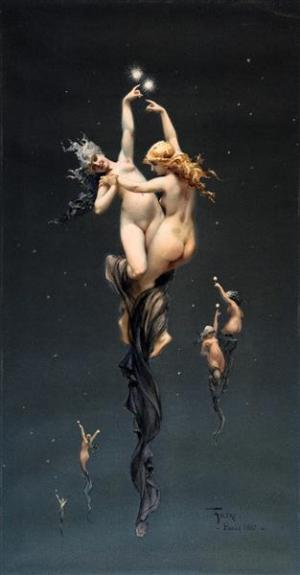 The Twin Stars - Luis Ricardo Falero, circa 1890
