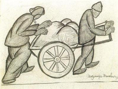 Two and a Pushcart - Kazimir Malevich, 1911
