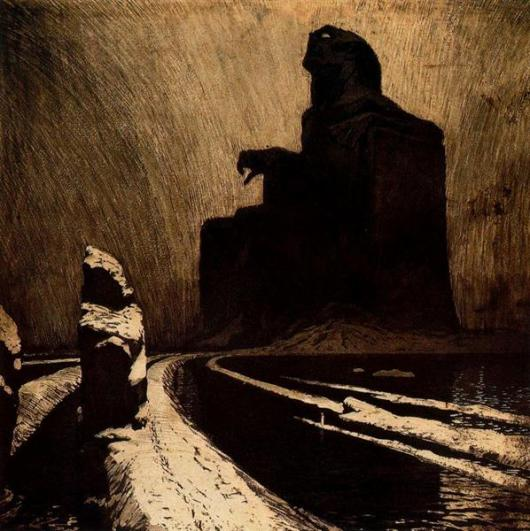 Resistance, or The Black Idol - Frantisek Kupka, 1903