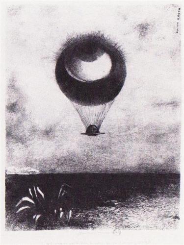 The Eye Like a Strange Balloon Goes to Infinity - Odilon Redon, 1882