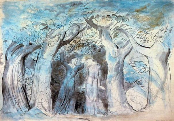Dante & Virgil Enter the Forest - William Blake, 1824