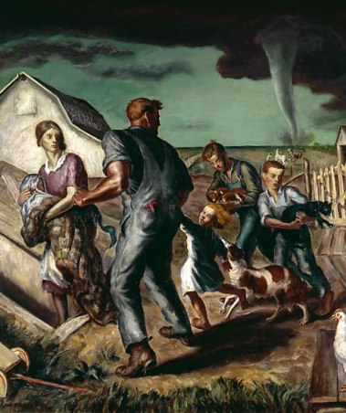 Tornado Over Kansas - John Steuart Curry, 1929